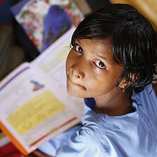 Photo of student studying - this global corporate foundation has complex needs