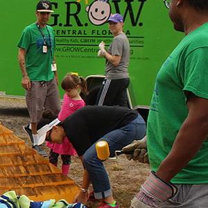 Photo of GROW volunteers - GROW now has 40 volunteers in their system