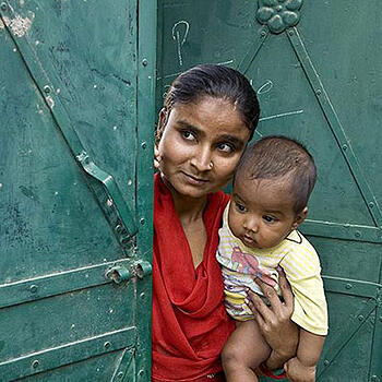 Photo of a mother and child - Rotary International and SmartSimple