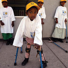 Photo of paraplegic children - SmartSimple is a platform solution like no other