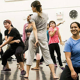 Photo dancers rehearsing - The SmartSimple mapping feature shares data with city councillors