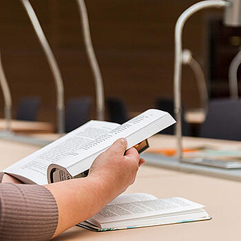 Photo of student studying - scholarship management