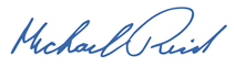 Mike Reid's signature