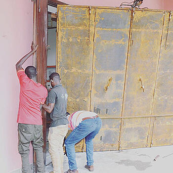 Protection of a museum's collections, including the installation of a new, secure door.