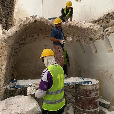 The work on Tutunji House in the old city of Mosul is continues