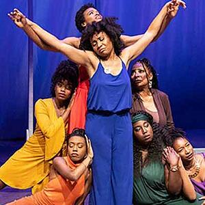 A group of African-American women in a performance