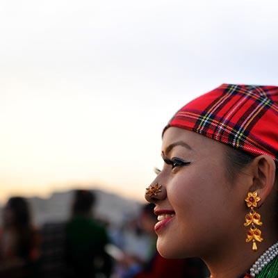 A tradiitonal south Asian girl with jewellery
