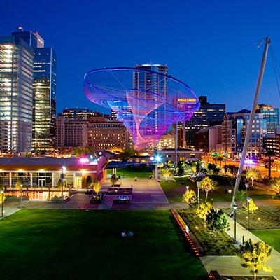 City of Phoenix at night