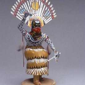 A Native American sculpture