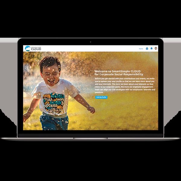 Screenshot of a SmartSimple Cloud profile portal