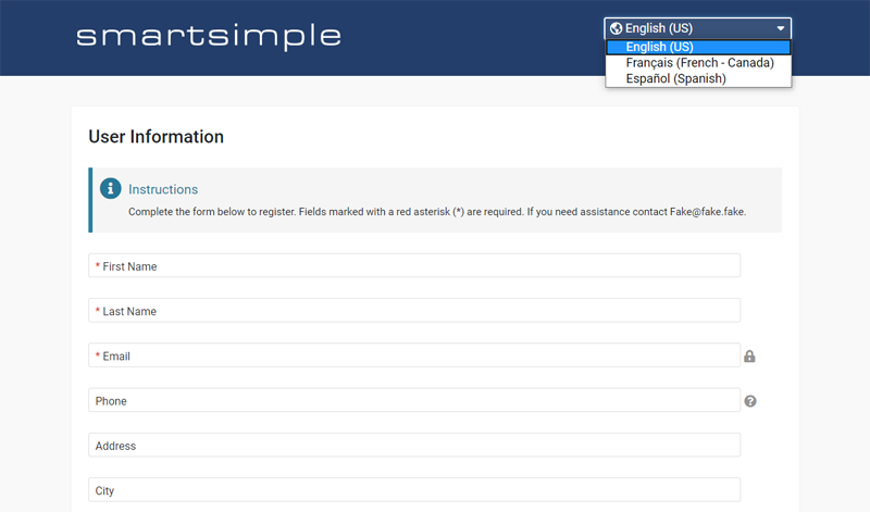 SmartSimple's Signup Page