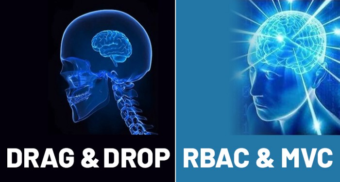 Drag and Drop versus Role-Based Access Control and Model-View-Controller