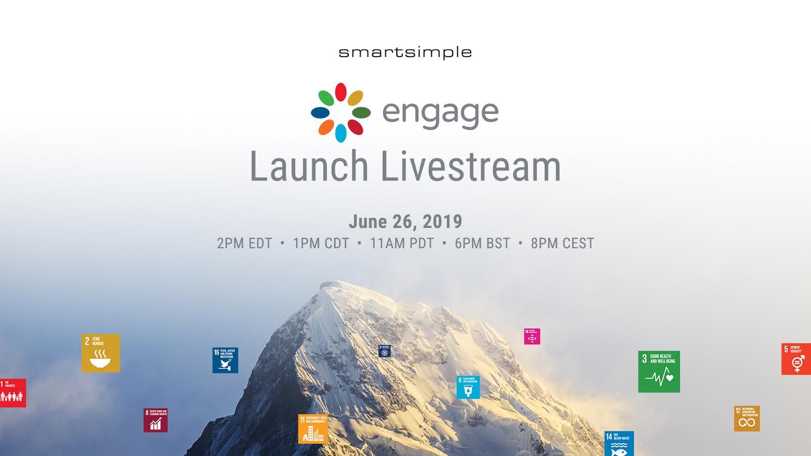 Watch SmartSimple's Engage Livestream Launch Event