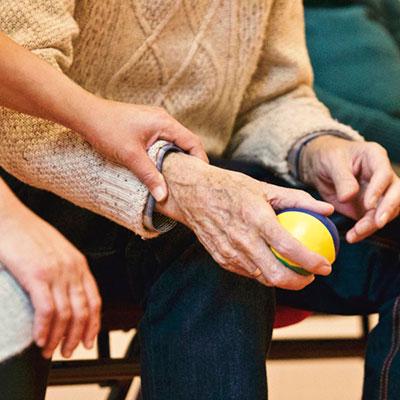An elderly's hands