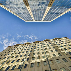 Office buildings in Edmonton.