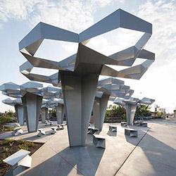 Sculptures on display