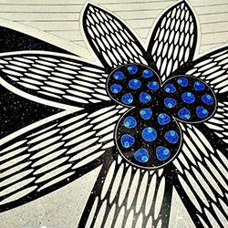 A flower pattern artwork