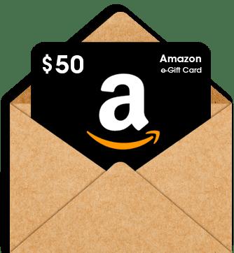$50 Amazon.com gift card